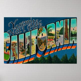 ヨセミテ国立公園、カリフォルニア ポスター