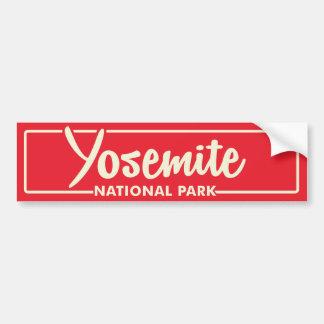 ヨセミテ国立公園 バンパーステッカー