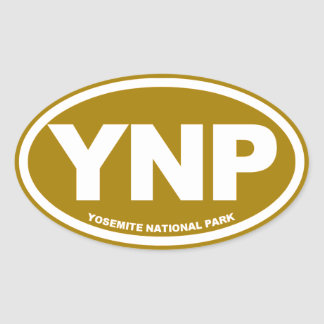 ヨセミテ国立公園 楕円形シール