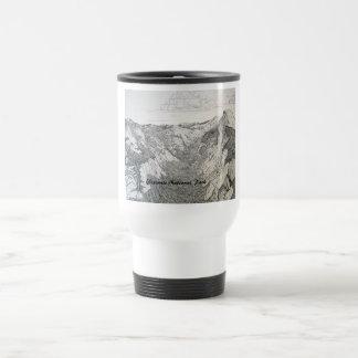ヨセミテ国立公園(白いコーヒー・マグのスケッチ) トラベルマグ