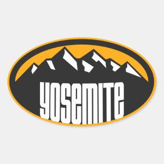 ヨセミテ大きい山の楕円形 楕円形シール