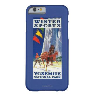 ヨセミテPosterYosemite、カリフォルニアの冬季スポーツ Barely There iPhone 6 ケース