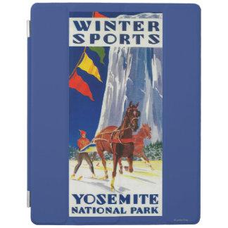 ヨセミテPosterYosemite、カリフォルニアの冬季スポーツ iPadスマートカバー