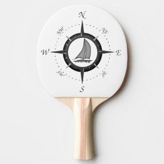 ヨットおよびコンパス面図 卓球ラケット