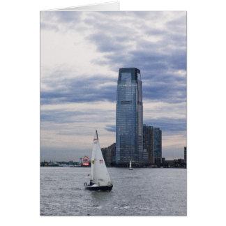 ヨットとのジャージーシティーの水辺地帯 カード