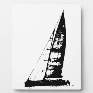 ヨットのシルエット フォトプラーク