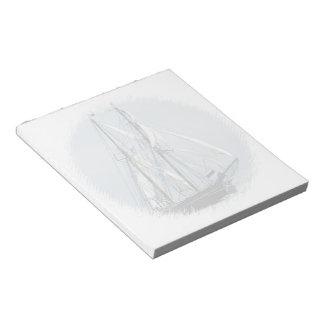 ヨットのメモ帳(2)のサイズ ノートパッド