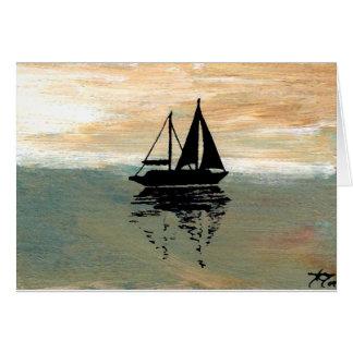 ヨットの反射のCricketDianeの海の物 カード