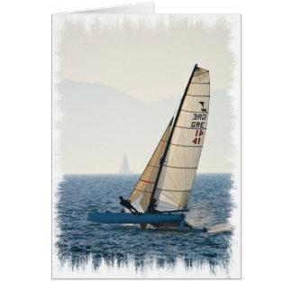 ヨットの挨拶状の競争 カード