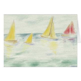 ヨットの挨拶状 カード