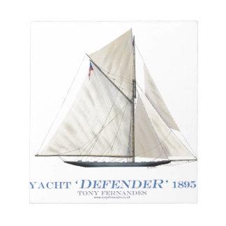 ヨットの擁護者1895年 ノートパッド