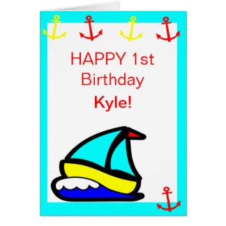 ヨットの航海のな誕生日 カード