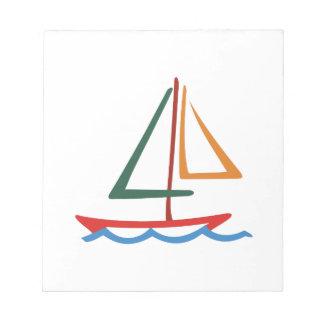 ヨットの輪郭 ノートパッド