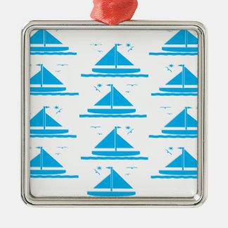 ヨットの青 メタルオーナメント