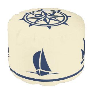 ヨットは日焼けのコンパス面図の青のシルエットを描きます プーフ
