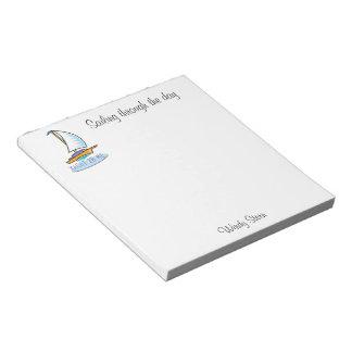 ヨット2B Me™_logoboat_personalized ノートパッド