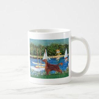ヨット-アイリッシュセッター1 コーヒーマグカップ