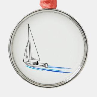 ヨット メタルオーナメント