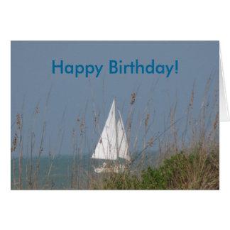 ヨット-海の誕生日 カード