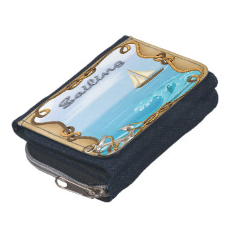 ヨット-航行のデニムの硬貨の財布の財布