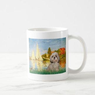 ヨット#2 - (y)シーズー(犬) Tzu コーヒーマグカップ