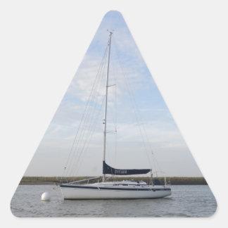 ヨットTitian 三角形シールステッカー