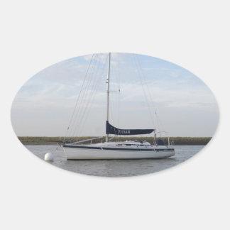 ヨットTitian 卵形シール・ステッカー