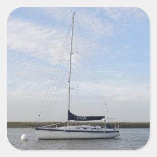 ヨットTitian 正方形シール・ステッカー