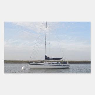ヨットTitian 長方形シール・ステッカー