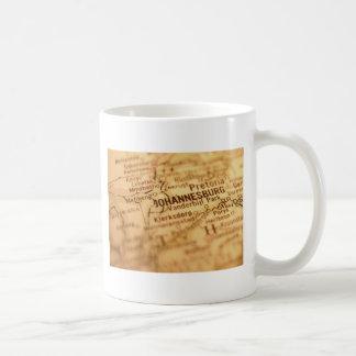 ヨハネスバーグのヴィンテージの地図 コーヒーマグカップ