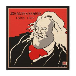 ヨハネス・ブラームスの木製のキャンバスのプリント ウッドウォールアート