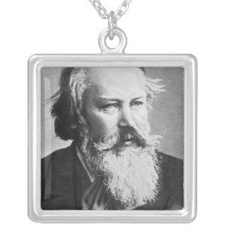 ヨハネス・ブラームス1879年 シルバープレートネックレス