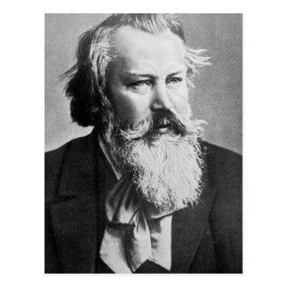 ヨハネス・ブラームス1879年 ポストカード