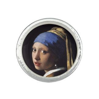ヨハネスVermeer著真珠のイヤリングを持つ女の子 指輪