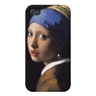 ヨハネスVermeer著真珠のイヤリングを持つ女の子 iPhone 4 Cover