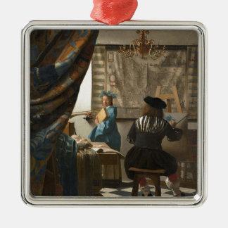 ヨハネスVermeer -絵画の芸術 メタルオーナメント