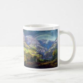 ヨハンキリスト教のDahl (1842年)著Stalheimからの眺め コーヒーマグカップ