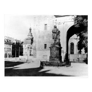 ヨハン・ゼバスティアン・バッハの彫像 ポストカード