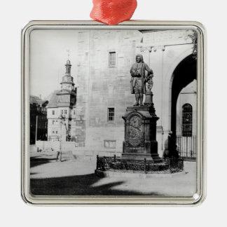 ヨハン・ゼバスティアン・バッハの彫像 メタルオーナメント