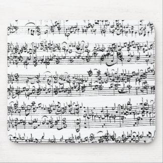 ヨハン・ゼバスティアン・バッハの音楽スコア マウスパッド