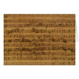 ヨハン・ゼバスティアン・バッハ著ヴィンテージの楽譜 カード