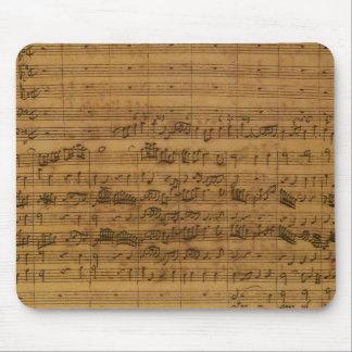 ヨハン・ゼバスティアン・バッハ著ヴィンテージの楽譜 マウスパッド