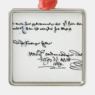 ヨハンde Wittの署名 メタルオーナメント