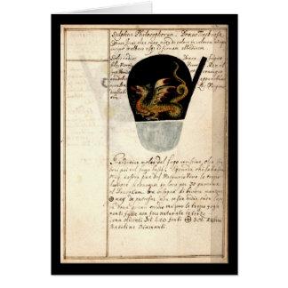 ヨハンGrasshoff 1620のプレート12による錬金術のノート カード