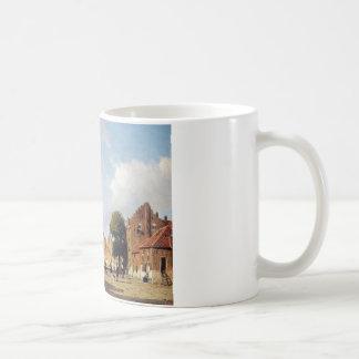 ヨハンHendrik Weissenbruch著都市眺め コーヒーマグカップ