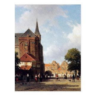 ヨハンHendrik Weissenbruch著都市眺め ポストカード