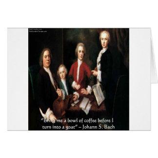 ヨハンS Bachのおもしろいなコーヒー引用文の挨拶状 カード