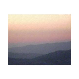 ヨルダンのラベンダーの空 キャンバスプリント