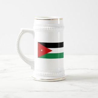 ヨルダンの旗の~の地図のマグ ビールジョッキ
