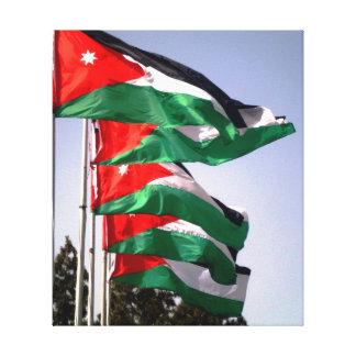ヨルダンの旗 キャンバスプリント